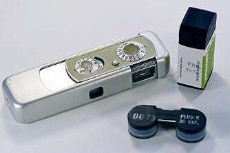 SPIONKAMERA: Minox-kameraet ble benyttet også av norske agenter. Det var lite nok til å gjemmes inni ermet.