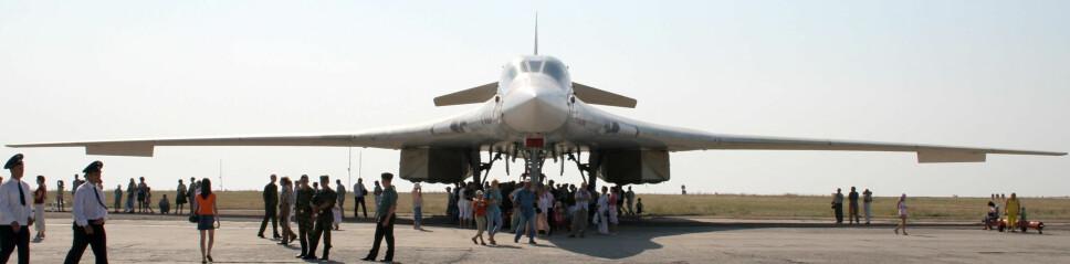 <b>RUSSISK DESIGN?</b> Russernes Tupolev Tu-160 kan være en annen designretning Kina lander på med H-20.