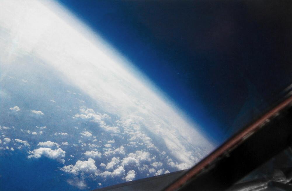 NESTEN ROMSKIP: Utsikten fra en SR-71 Blackbird på 25.000 meters høyde kunne man tydelig se jordkrummingen og stjernehimmelen midt på dagen.