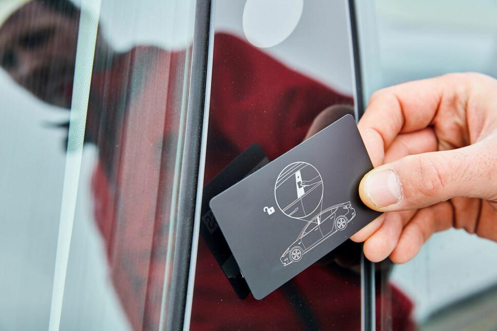 <b>BILLIG: </b>Tynt magnetkort i stedet for nøkkel. Men du kan åpne den med en app også.