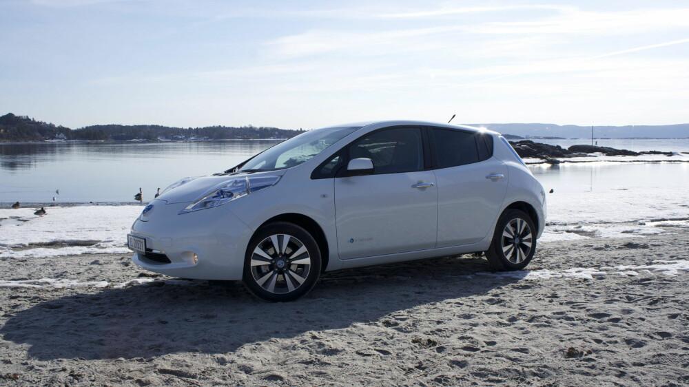 VANLIGST: Med ca. 600 biler i bruktmarkedet burde de fleste ha mulighet til å skaffe seg brukt Nissan Leaf. Priser fra 85.000 til 250.000 kroner.