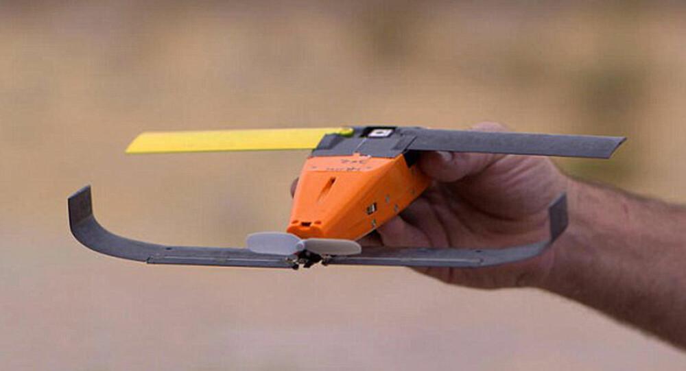 KNØTTSMÅ: Det er denne typen mikrodroner det amerikanske forsvaret tester ut sverm-teknologien med. Dronene veier 290 gram og har et vingespenn på 30 cm.
