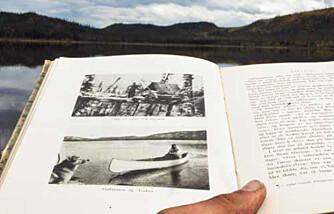 BYGDE HYTTE: Hjalmar Dale og Helge Ingstad bygde hytta ved «Elgsjøen» høsten 1927. Nesten 90 år senere var artikkelforfatteren der.