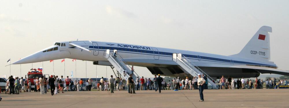 SJELDEN: I alt 16 eksemplarer i forskjellige utgaver ble bygget av Tu-144. Denne restaurerte utgaven i Moskva viser tydelig den nedsenkbare nesen som også Concorde brukte.