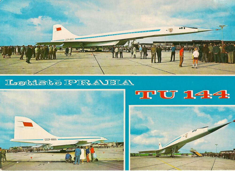 PRESTISJE: Flyene vakte berettiget oppsikt når de besøkte østblokklandene, som dette tsjekkiske prospektkortet viser.