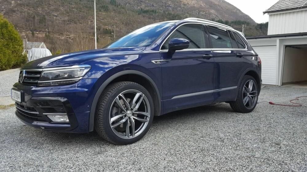 DIESEL: Dette er 37-åringens nye bil. En 2017 modell VW Tiguan R-line med 2-liters diesel og firehjulstrekk.