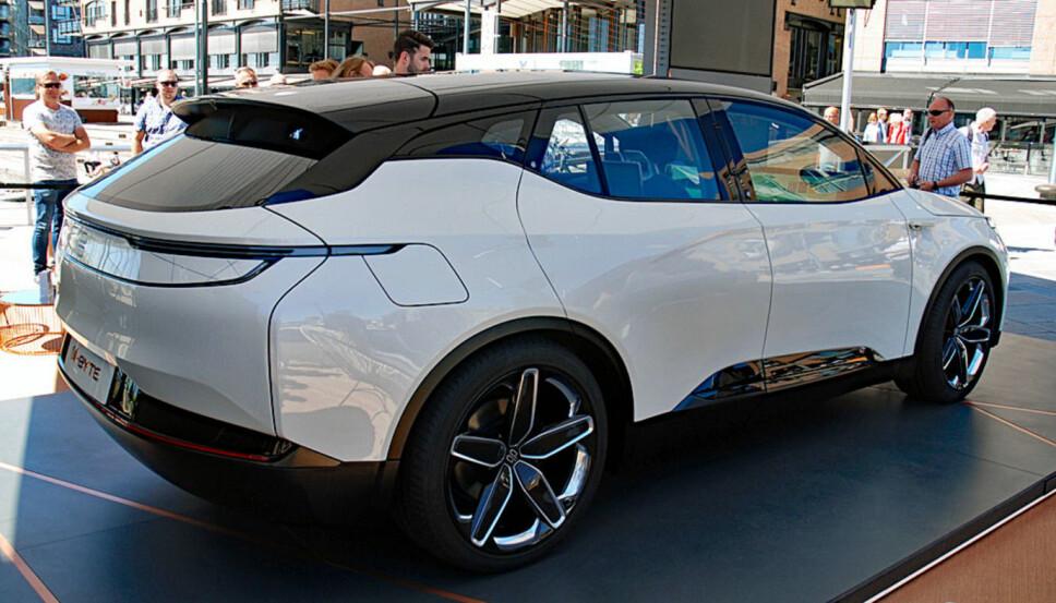 <b>KINESISK ELBIL: </b>Her står den kinesiske el-SUVen Byton M-Byte på utstilling i Oslo. Byton er en av en rekke kinesiske elbilprodusenter som har kommet på banen de siste årene.