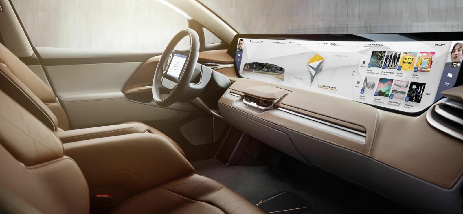 <b>BYTON M-BYTE: </b>Byton er et helt nytt bilmerke, som går helt nye veier – og som virkelig utfordrer den etablerte bransjen.