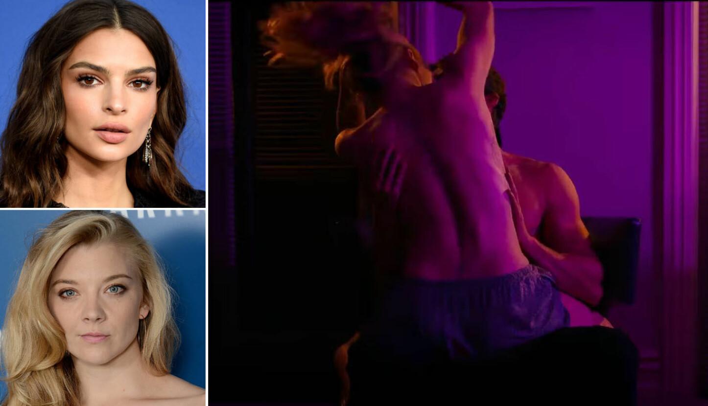 SEXSCENE:Filmen «In Darkness» har fått mye oppmerksomhet og kritikk blant anmelderne, mest for sine naken - og sexscener. Hovedrollene spilles av Emily Ratajkowski (oppe til venstre) og Natalie Dormer (nede til venstre).