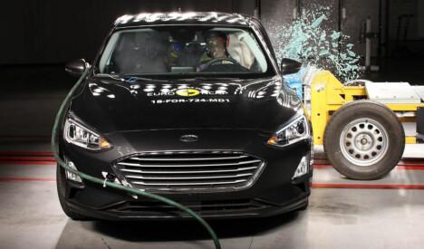Nye Ford Focus gjør det også bra i den nye krasjtesten.