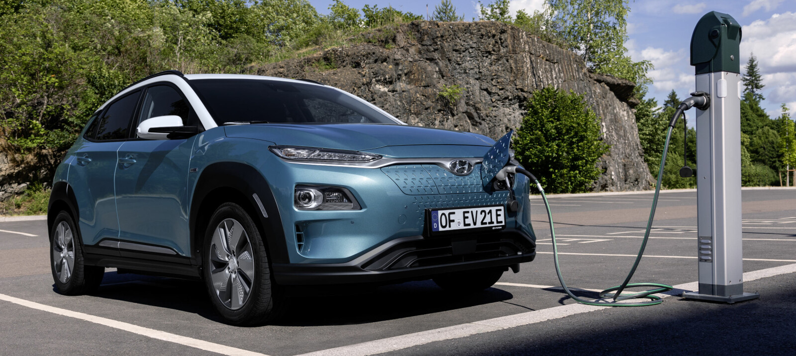 <b>NORGESSUKSESS: </b>Hyundai Kona Electric er den nyeste elbilen i Norge akkurat nå og er en bil som kan gi betydelige besparelser på familiebudsjettet.