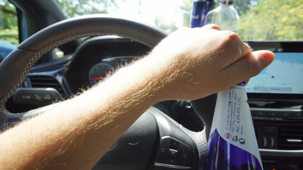Hele 60 prosent av rusførerne på sommeren er påvirket av alkohol.