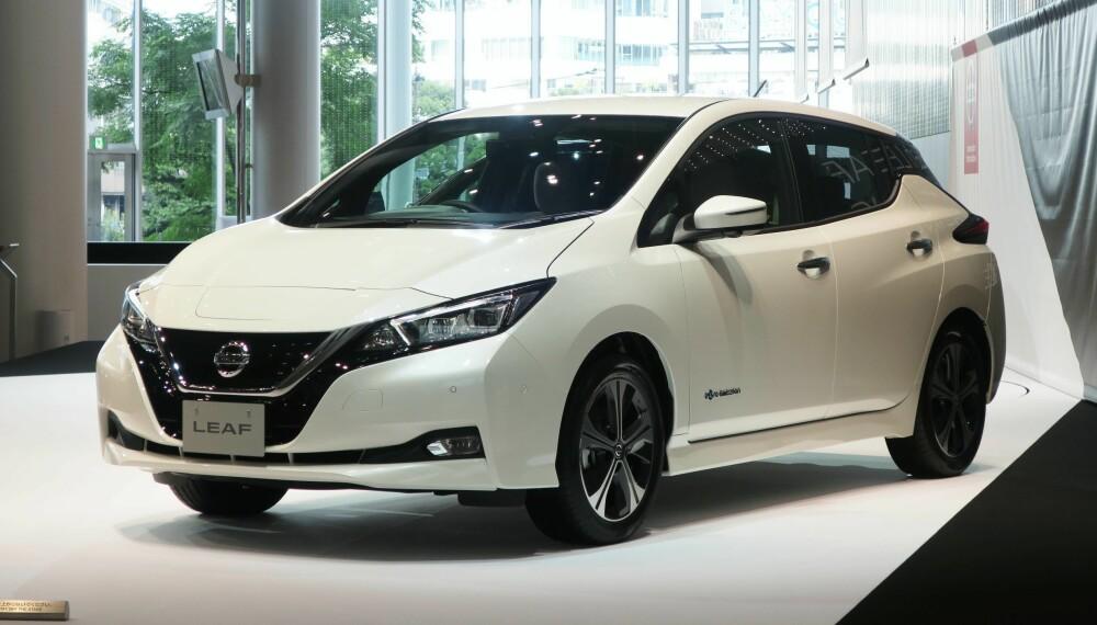 <b>NY NISSAN LEAF:</b> I dag kommer nye Nissan Leaf med et batteri på 40 kWh. En modell med større batteri og lengre rekkevidde skal være på veien i løpet av 2019.