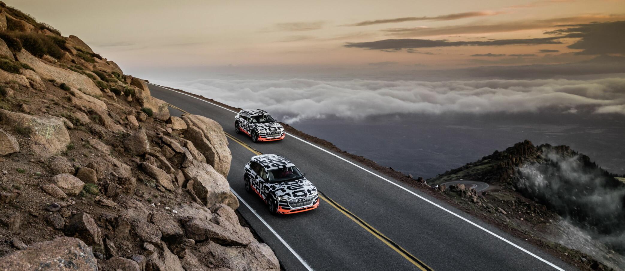 Et knippe journalister har vært i Colorado Springs og sniktittet på Audis første elbil, e-tron quattro.