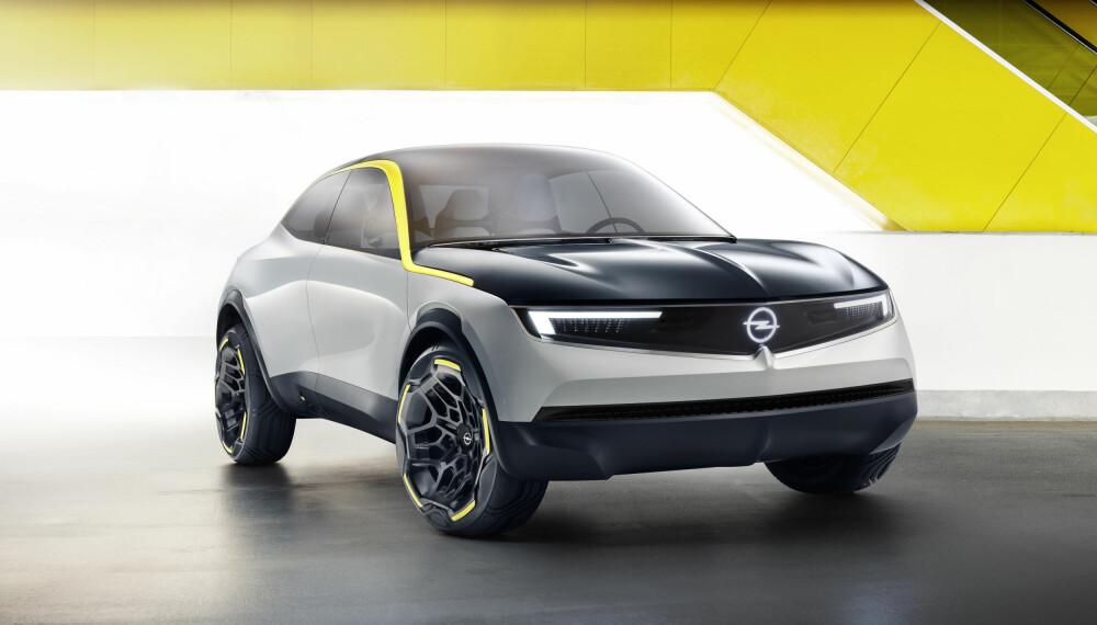 <b>OPELS ELBIL: </b>Dette er trolig designretningen vi vil se fra Opel de kommende årene.