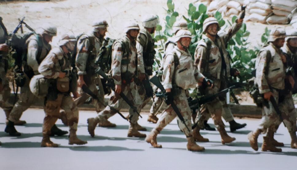 <b>TRAKK SEG UT:</b> Amerikanske soldater vant få venner i Somalia, erindrer Lars Christian Baavold
