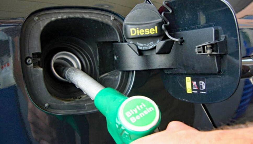 <b>FEILFYLLING: </b>Bensin på en dieselbil er «gift» for motoren og kan forårsake store skader, sier Broom-Benny.