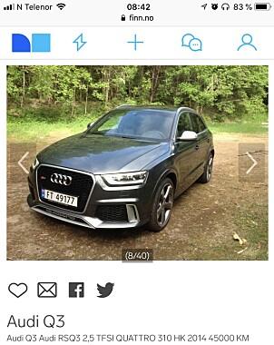 Bilen er importert, og ble registrert i Norge første gang i 2015. Dermed følger det ikke med vanlig norsk garanti.