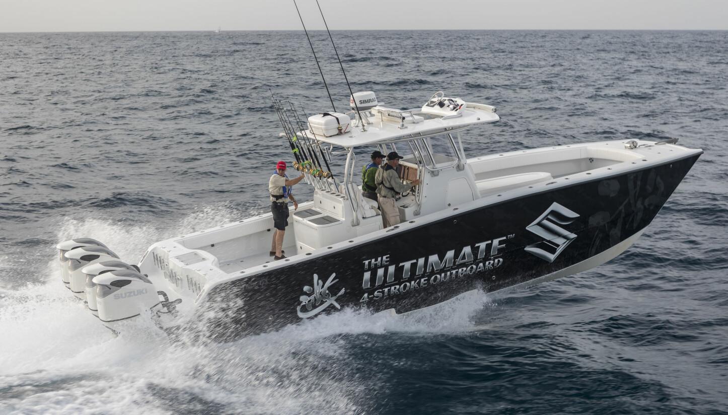 FISKETUR: Vi hadde vel klart oss noen timer om bord her, selv om fisken skulle utebli.