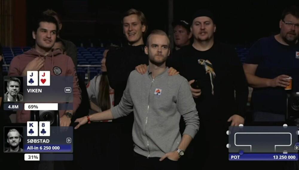 <b>FØRSTE UT:</b> Kenneth Søbstad Sundet var første man ut på finalebordet i norgesmesterskapet i 2018