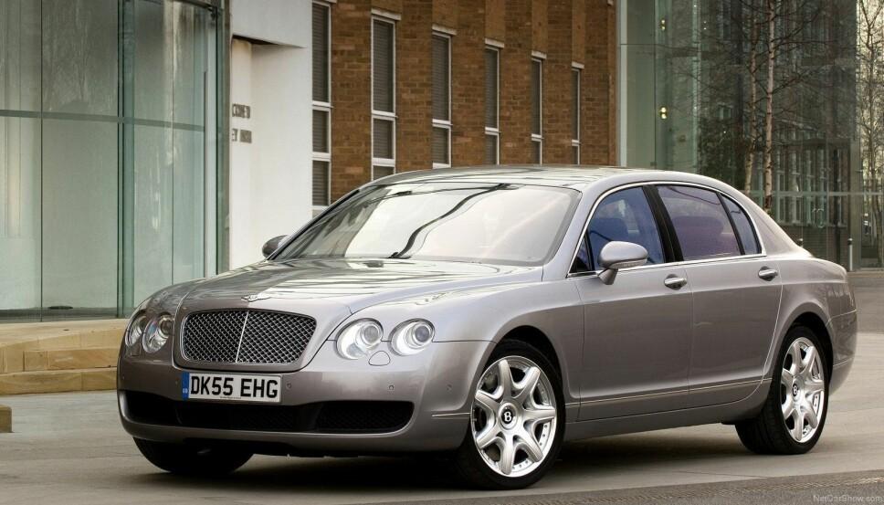 <b>SÆRPREGET DESIGN: </b>Bentley har et særeget design på Flying Spur, som på mange måter er sedanutgaven av coupeen Continental.