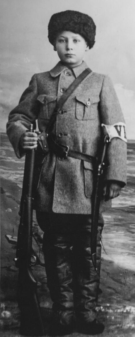 <b>MODIG ADJUTANT:</b> Onni Kokko var 14 år da han ble dødelig såret under slaget om Tammerfors.