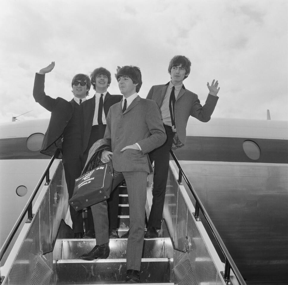 <b>POPULÆRE:</b> The Beatles ble raskt et av verdens mest populære band. Her et bilde fra 1964.