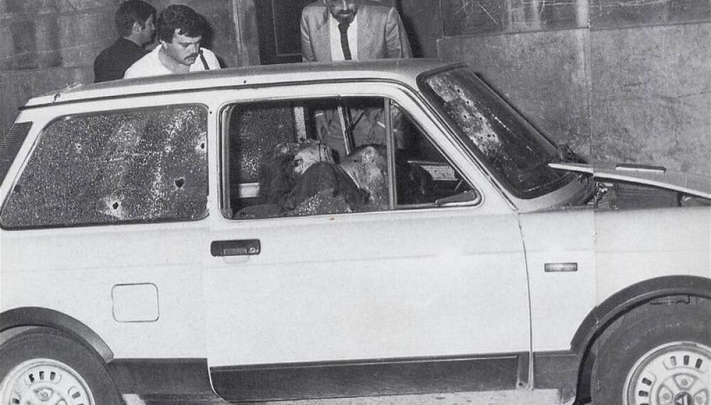 <b>OFRE:</b> General Carlo Alberto Dalla Chiesa ble drept sammen med sin kone og en livvakt i mai 1982.