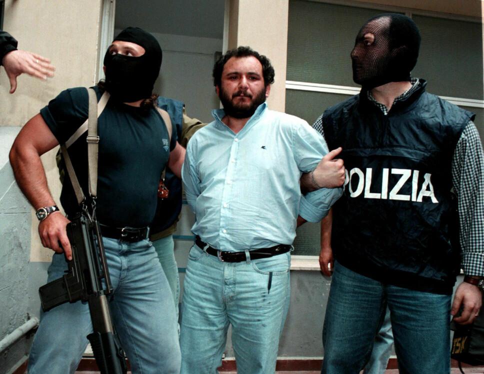 <b>SVINET TATT: </b>Mafiabøddelen Giovanni Brusca, med tilnavnet Svinet, ble arrestert i 1996. Det var han som detonerte bilbomben som drepte Giovanni Falcone.