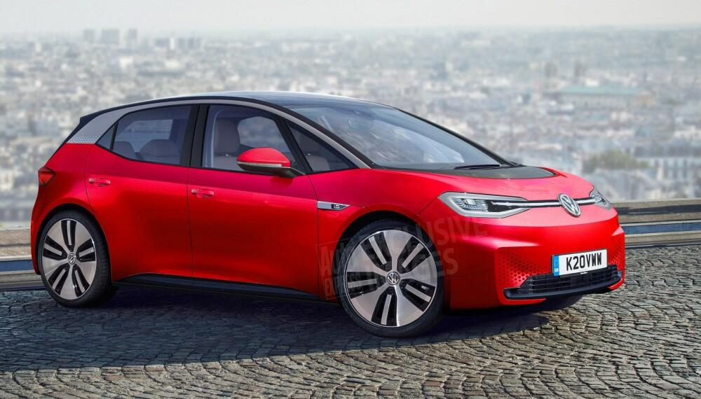 <b>ERSTATTER GOLF:</b> Omtrent slik skal VWs nye folkeelvogn - Neo - se ut.