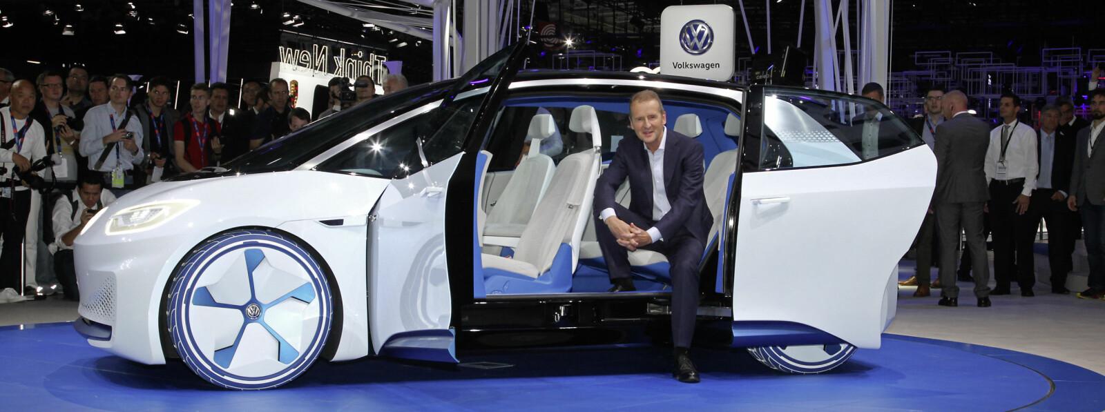 <b>VW ID NEO:</b> Ble avuket på motormessen i Paris i 2016. Merk at Volkswagen ikke selv omtalte bilen som Neo, men bare ID.