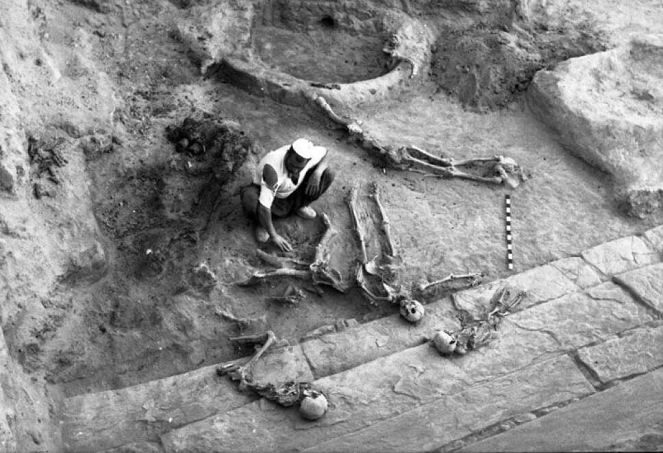 <b>SLAKTET NED BARN:</b> Ingen slapp unna. Menn, kvinner og barn ble slaktet ned for fote da krigerne inntok og utslettet byen Hansanlu for 2500 år siden. Likene ble liggende og begravd i brennende ruiner.