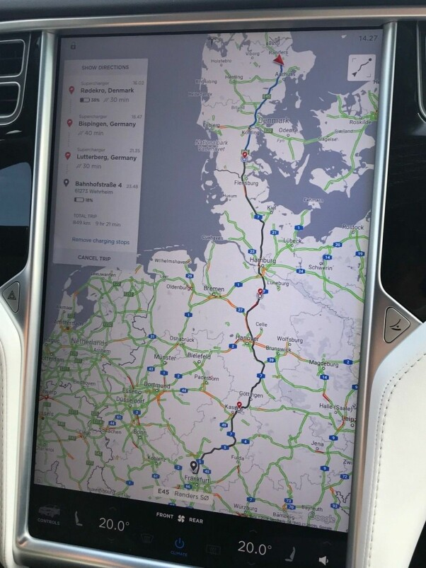 <b>BRA OVERSIKT:</b> Navigasjonssystem i toppklasse.