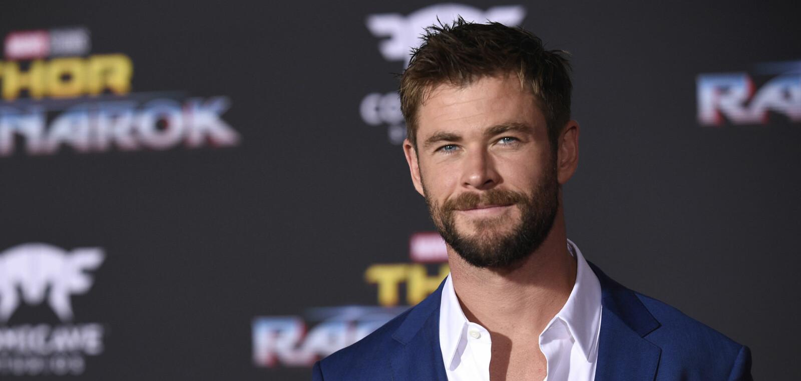 <b>KJEKKAS: </b>Chris Hemsworth på verdenspremieren til «Thor: Ragnarok» i oktober 2017.