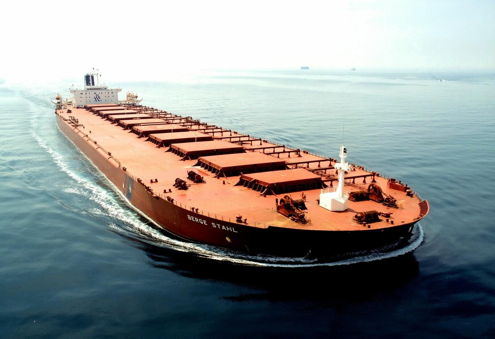 STÅLKJEMPEN: : I dag eies skipet av det Singapore-baserte rederiet Berge Bulk.