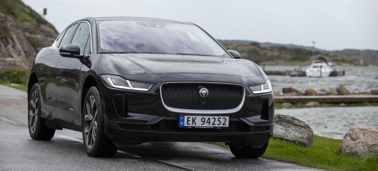 SIKKER: Jaguar i-Pace er en av tre biler som tyvene sliter med å stjele via såkalt relay-ing - en teknikk der tyver stjeler nøkkelens digitale signaler, for så å åpne og starte en bil.