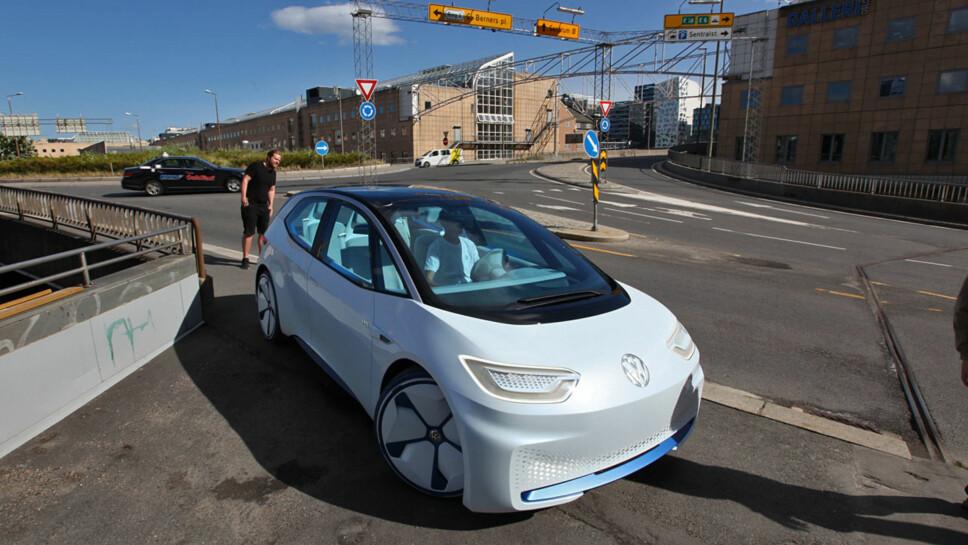 <b>I.D. NEO:</b> Den er først ut i en stor offensiv og blir svært viktig for Volkswagen. Dette skal være den helt nye elbilen Neo (navnet er ikke bekreftet)