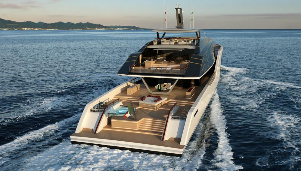 ASYMMETRISK: Designer Luca Vallebona liker å utfordre de konvensjonelle oppfatningene av yachtdesign.