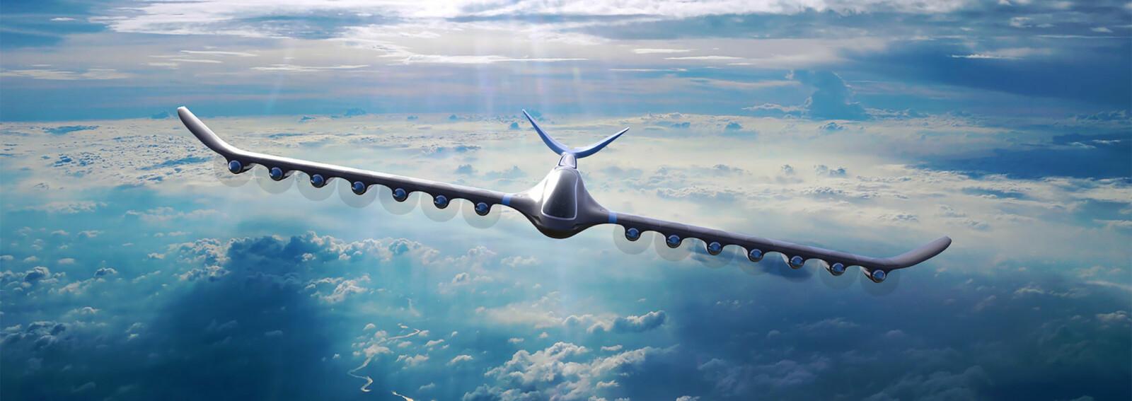 I dette perspektivet og med 14 propeller ser flyet Element One gigantisk ut. I virkeligheten har det plass til fire passasjerer.