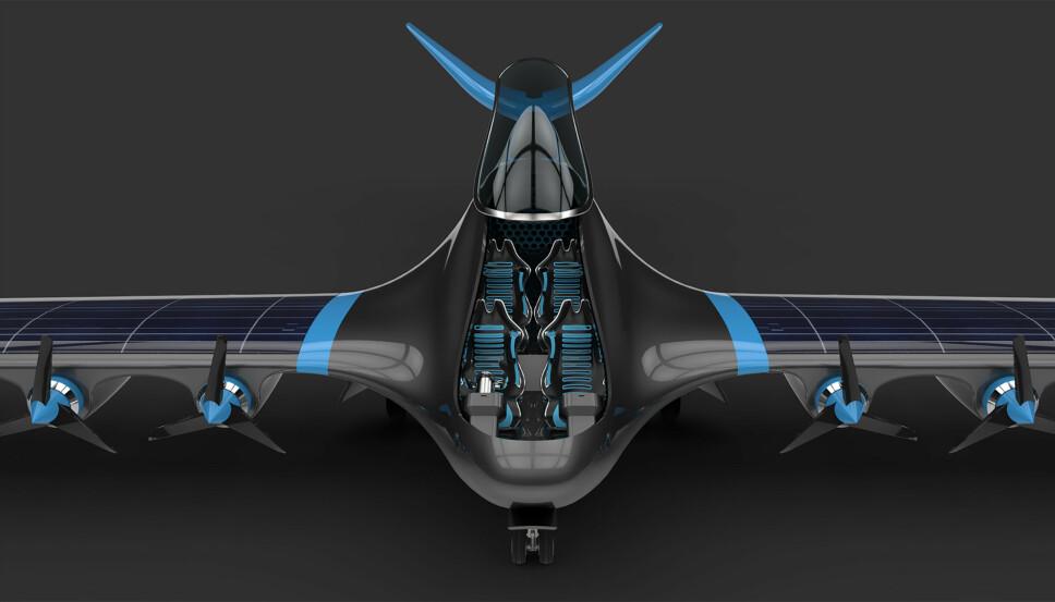 Konseptflyet som er avduket har plass til fire passasjerer, men planen er å skalere dette opp til 10 eller 20 personer eller mer, ifølge HES.