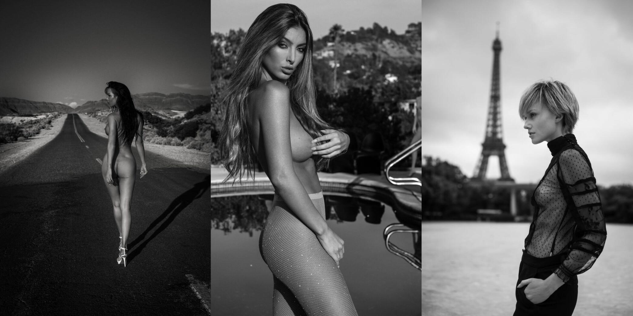 <b>MANFRED BAUMANN-KALENDER:</b> «Entourage»-skuespiller Alexia Rae Castillo (midten) er blant kvinnene som stiller opp i fotograf Manfred Baumanns erotiske kalender for 2019.