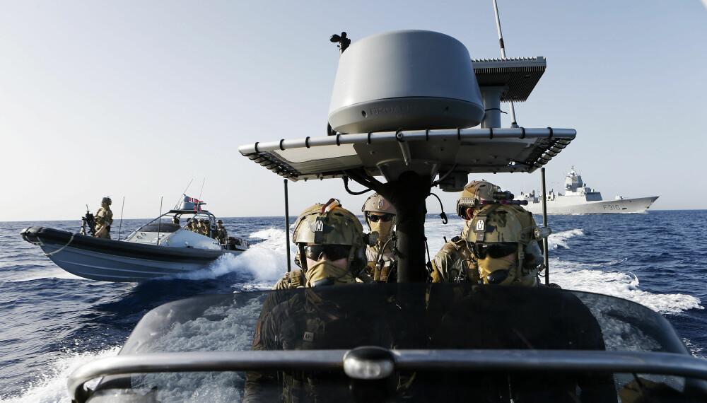 <b>MARINEJEGER:</b> To Goldfish-RIB-er fra Marinejeger-kommandoen på oppdrag  i Rødehavet.