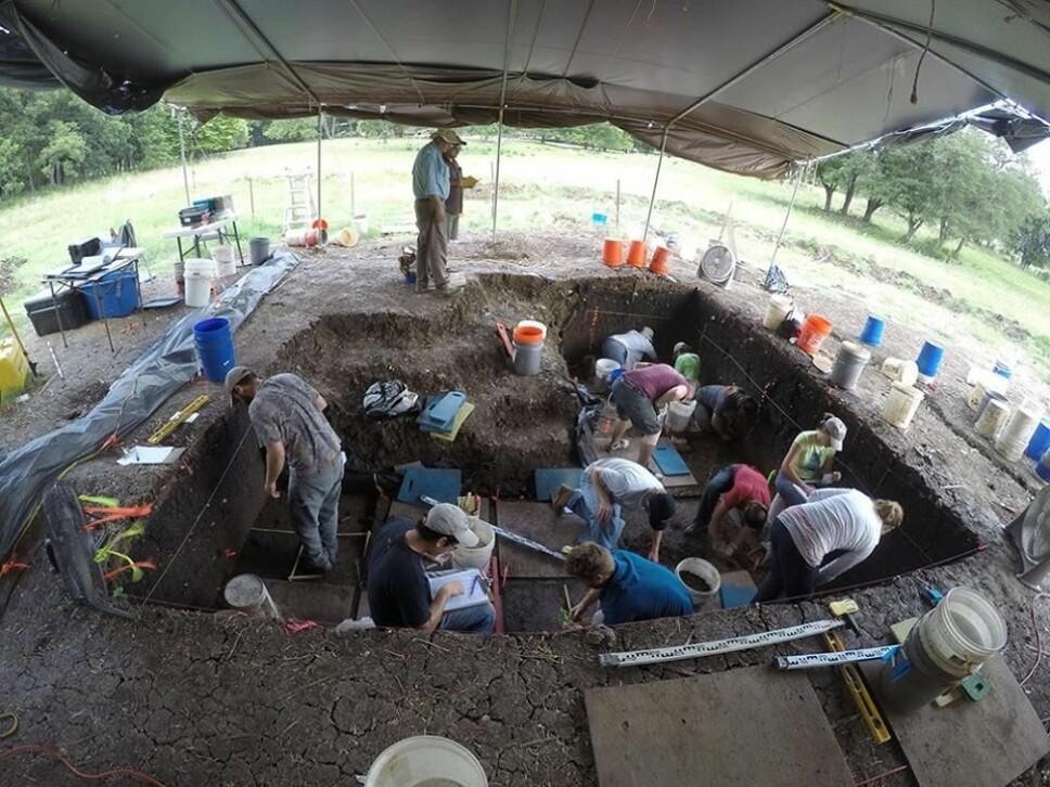 <b>UTGRAVNINGSFELTET:</b> De urgamle spydspissene ble funnet her, noen kilometer nord for Austin. Foto: Senter for forskning på de første amerikanerne, Texas A&amp;M