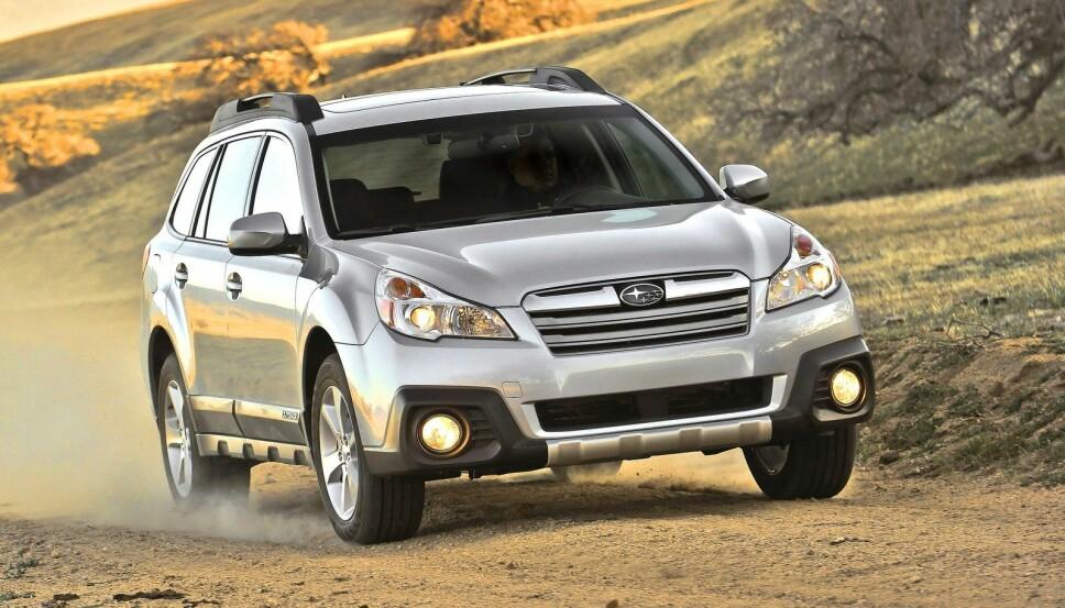 Bildet viser en Subaru Outback 2013-modell