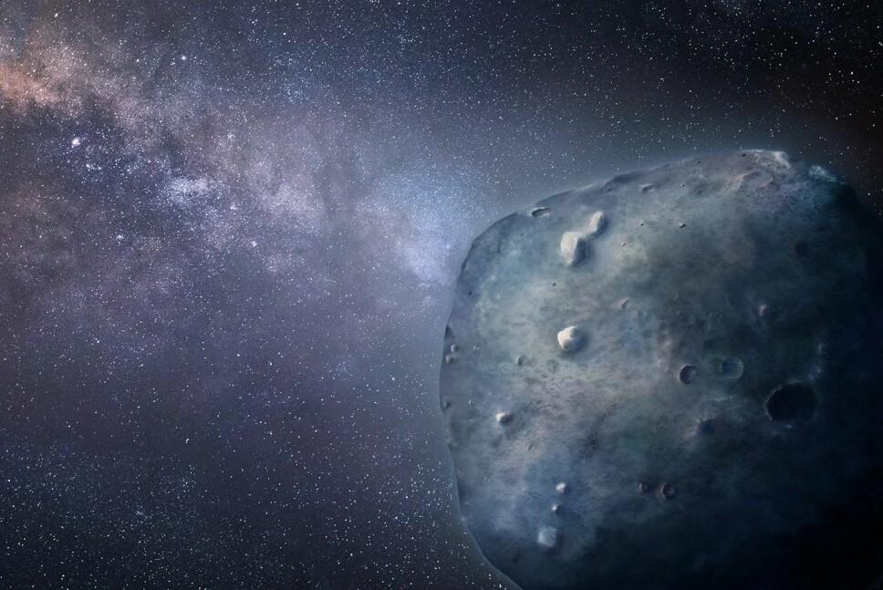 Astronomer ved Universitetet i Arizona illustrerer Phaethon på denne måten
