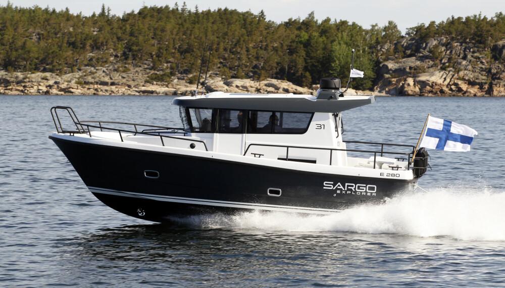 ALLVÆRSBÅT: Forholdene under prøvekjøringen var ikke slik at vi får prøvd båten i særlig vindsjø, men erfaringen tilsier at Sargo-skrogene tåler en støyt.