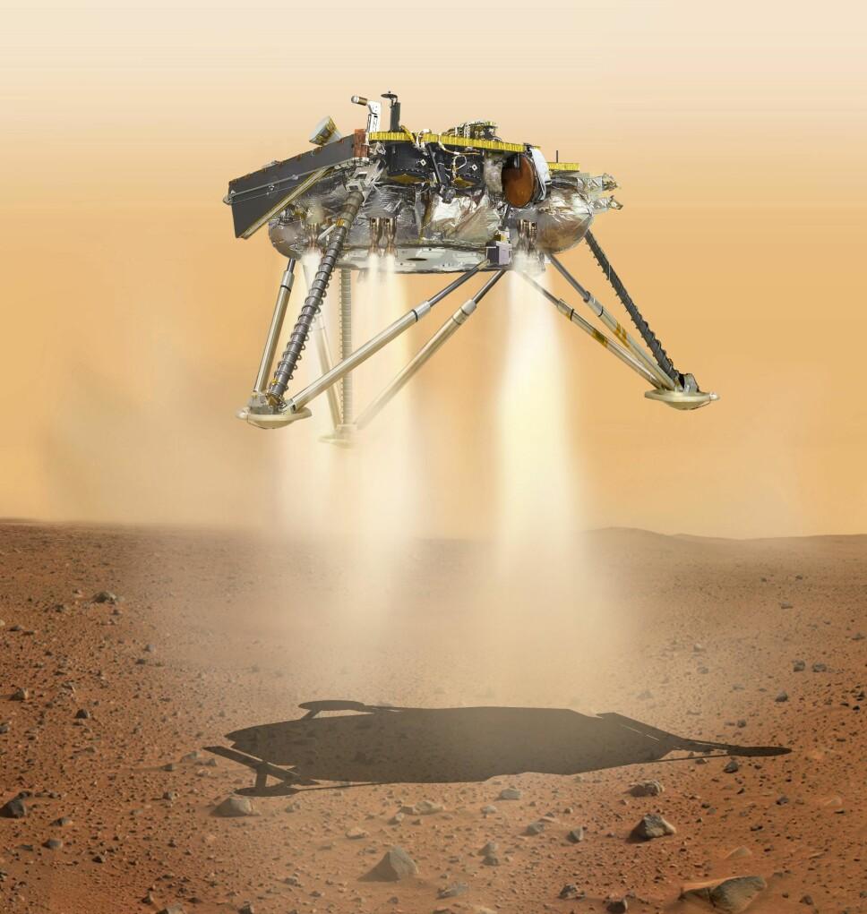 <b>THRUSTERE:</b> Ved hjelp av bremserakettene landet sonden trygt på Mars' overflate. Dette gjorde datamaskinene selv, basert på programmering foretatt på jorden.