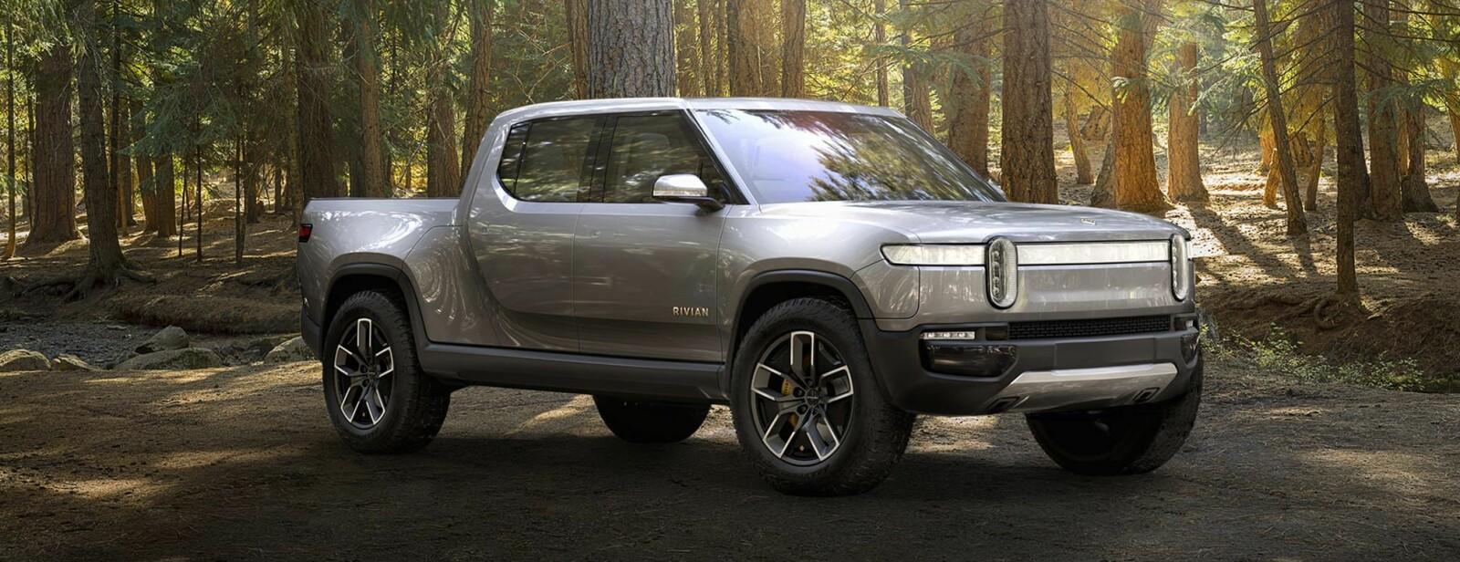 <b>ELEKTRISK PICKUP: </b>Den amerikanske selskapet Rivian har avduket den elektrisk pick-upen R1T som fullstendig parkerer den tradisjonelle pick-up-teknikken.