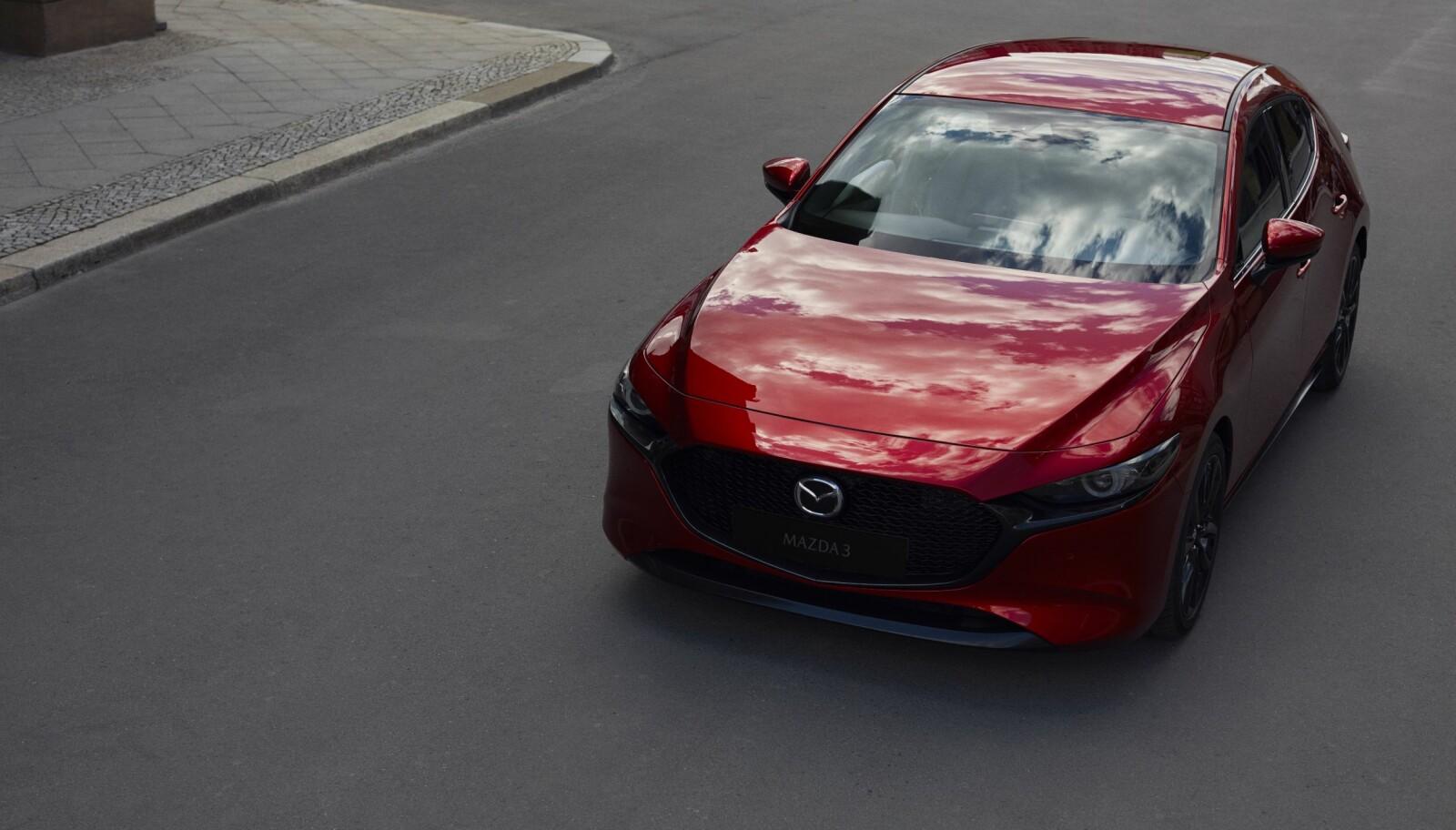 TIL NORGE: Allerede i mars kommer de første versjonene av Mazda3 til Norge.