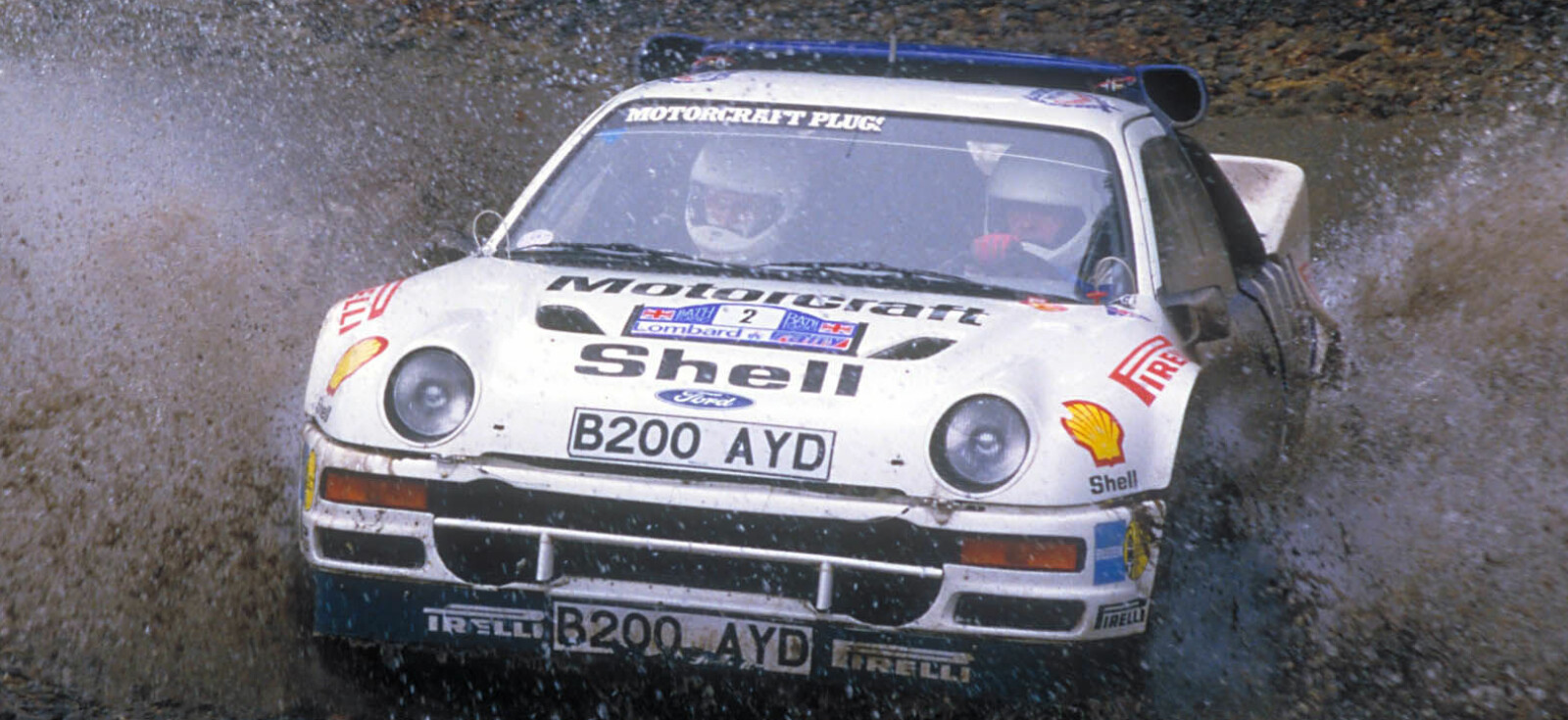 <b>SISTE VM-LØP:</b> Stig Blomqvist rattet en Ford RS200 under RAC Rally i 1986.